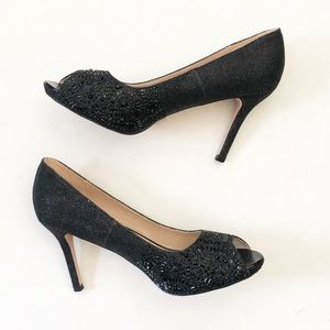 Lauren Lorraine Paula2 Rhinestone Embroidered Heel